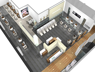 Nazih cosmetics for 3d salon floor plans