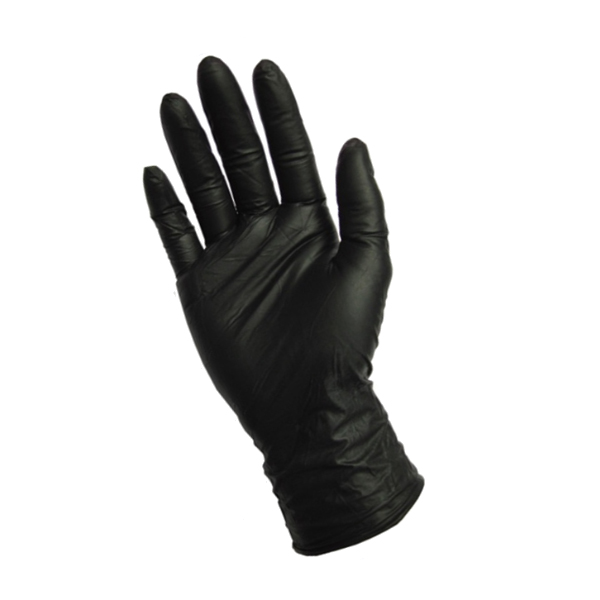 Black Latex Gloves Medium 1x100 1160202 Nazih Cosmetics