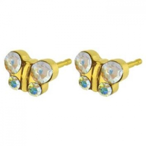fashion earing glitter ball - rock crystal