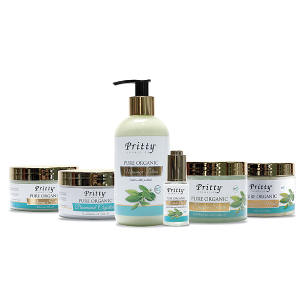 pritty pure organic crystal spa manicure pedicure kit - green tea