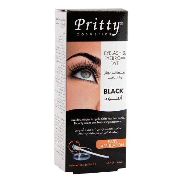 eyelash and eyebrow dye kit -- black