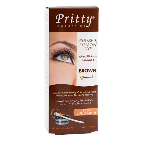 eyelash and eyebrow dye kit -- brown