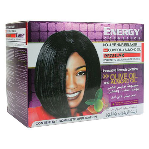 no-lye hair relaxer with olive oil & almond oil - regular