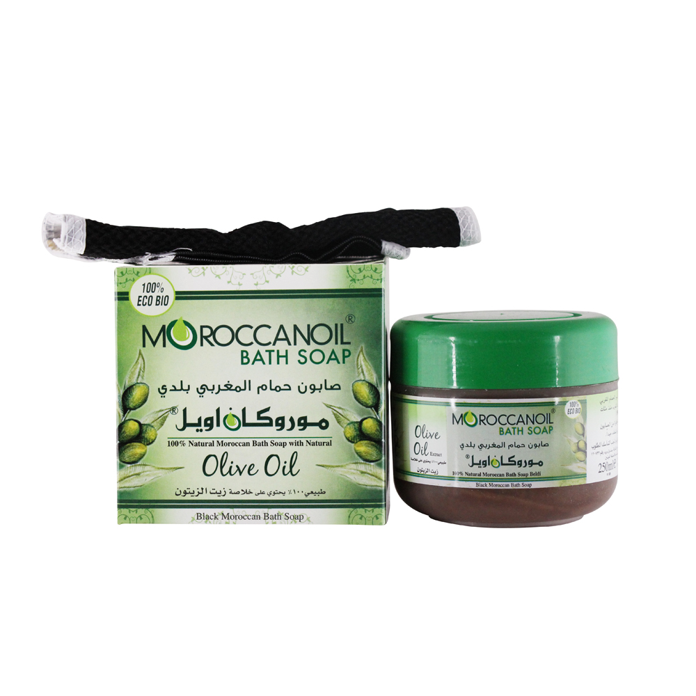 a natural black moroccan soap with olive oil - 250ml