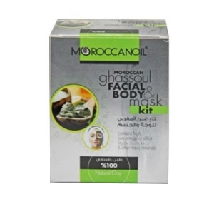 moroccan ghassoul face & body mask kit