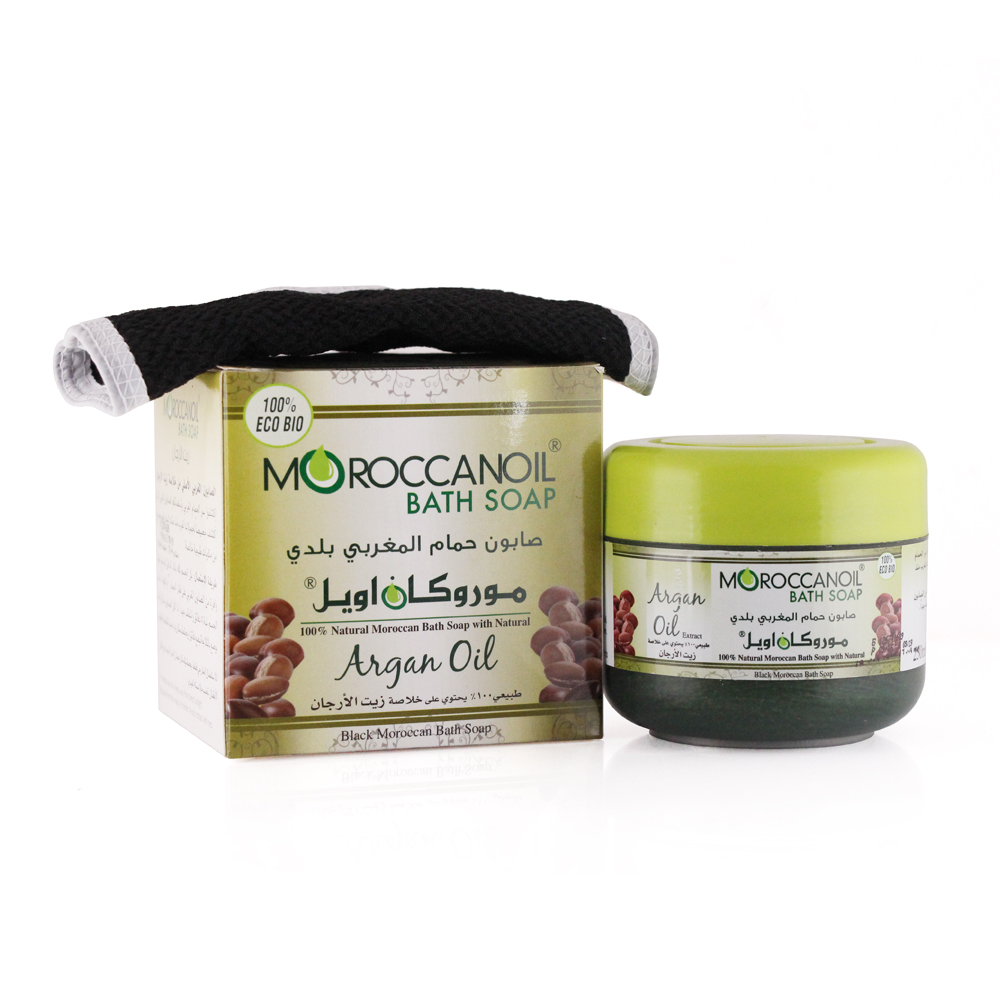 a natural black moroccan soap with argan oil - 250ml