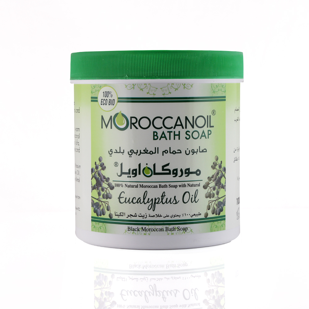 a natural black moroccan soap with eucalyptus oil - 1000ml