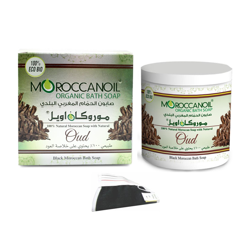 moroccan organic bath soap with oud 250 ml