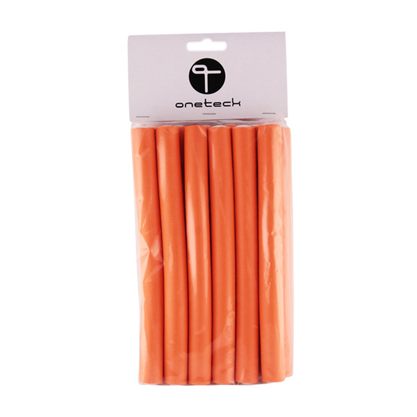 hair flexible rods - 16mm orange (m)