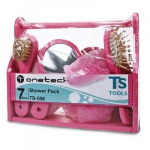 shower pack pink set - 7pcs.